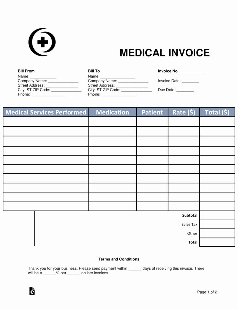 Medical Bill Statement Template Inspirational Medical Invoice Template Invoice Design Inspiration