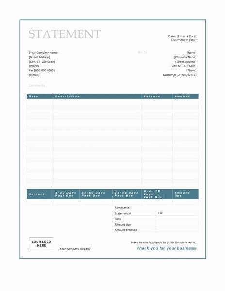 Medical Bill Statement Template Lovely Billing Statement Template Uk Templates Resume