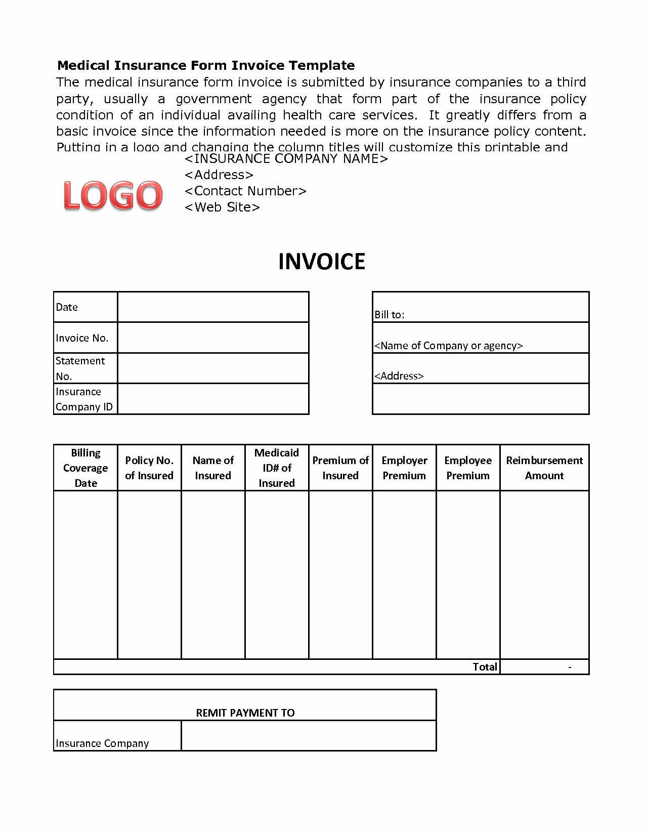Medical Bill Template Pdf Awesome Medical Billing Invoice Template Free Medical Invoice
