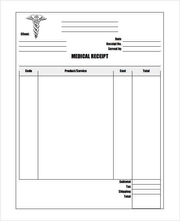 Medical Bill Template Pdf Beautiful 17 Medical Receipt Templates Pdf Doc