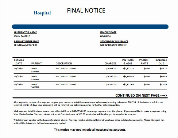 Medical Bill Template Pdf Beautiful 9 Medical Invoice Templates – Free Samples Examples