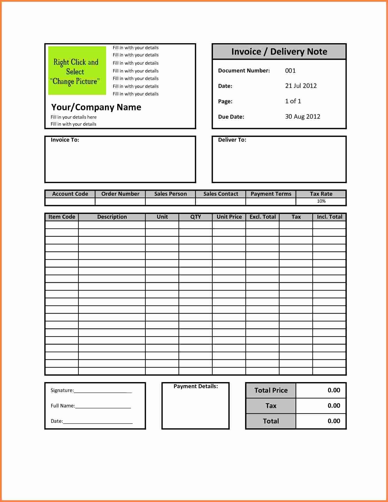 Medical Bill Template Pdf Best Of 3 Sample Billing Invoice Excel