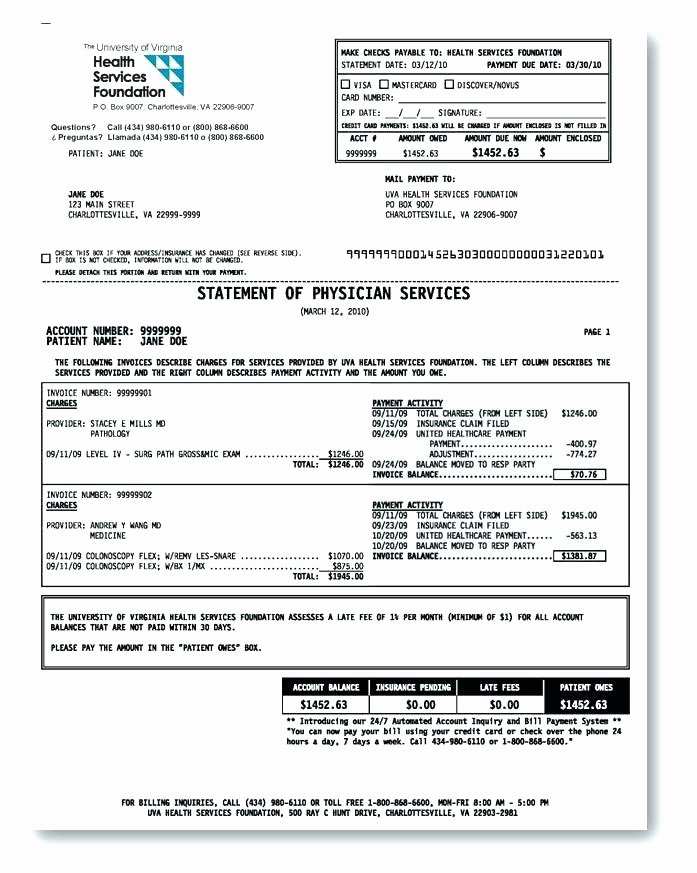 Medical Bill Template Pdf New Hospital Bill Template Invoice Google Docs Example