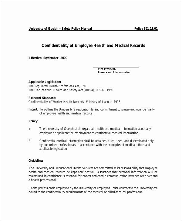 Medical Confidentiality Agreement Template Best Of 10 Medical Confidentiality Agreement Templates – Free