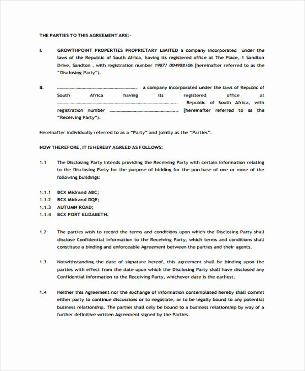 Medical Confidentiality Agreement Template New 21 Confidentiality Agreement form Template Free