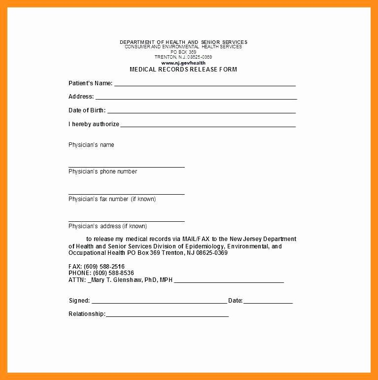 Medical Record form Template Awesome 12 13 Personal Health Records Template