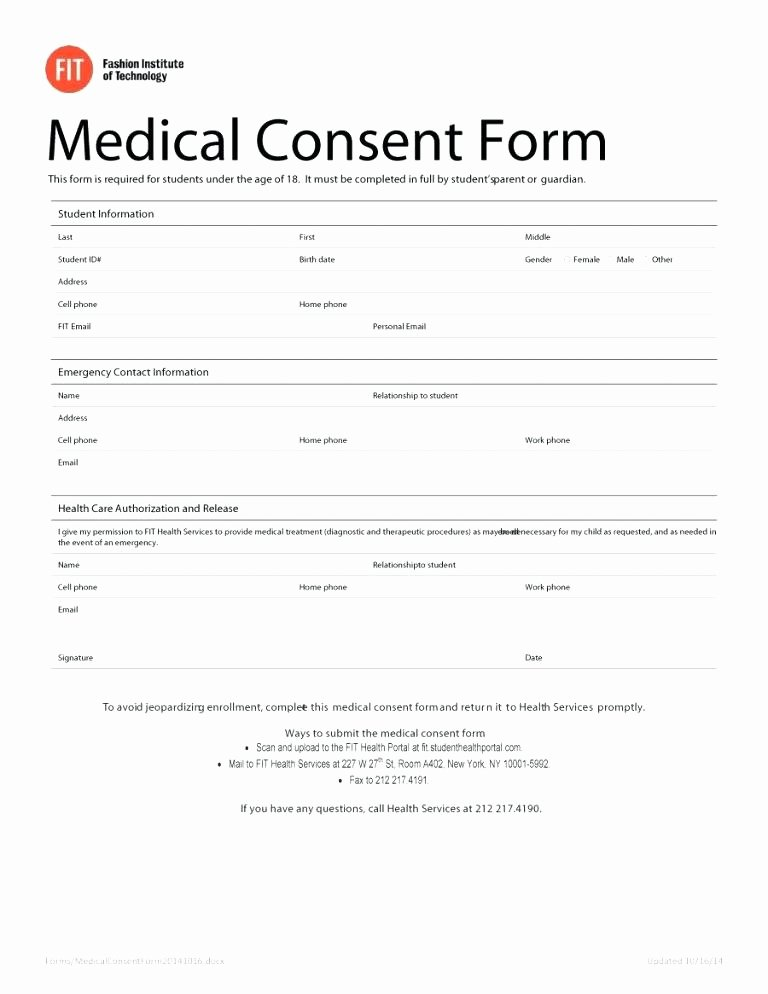 Medical Record form Template Beautiful Free Medical Release Template Sample form Information