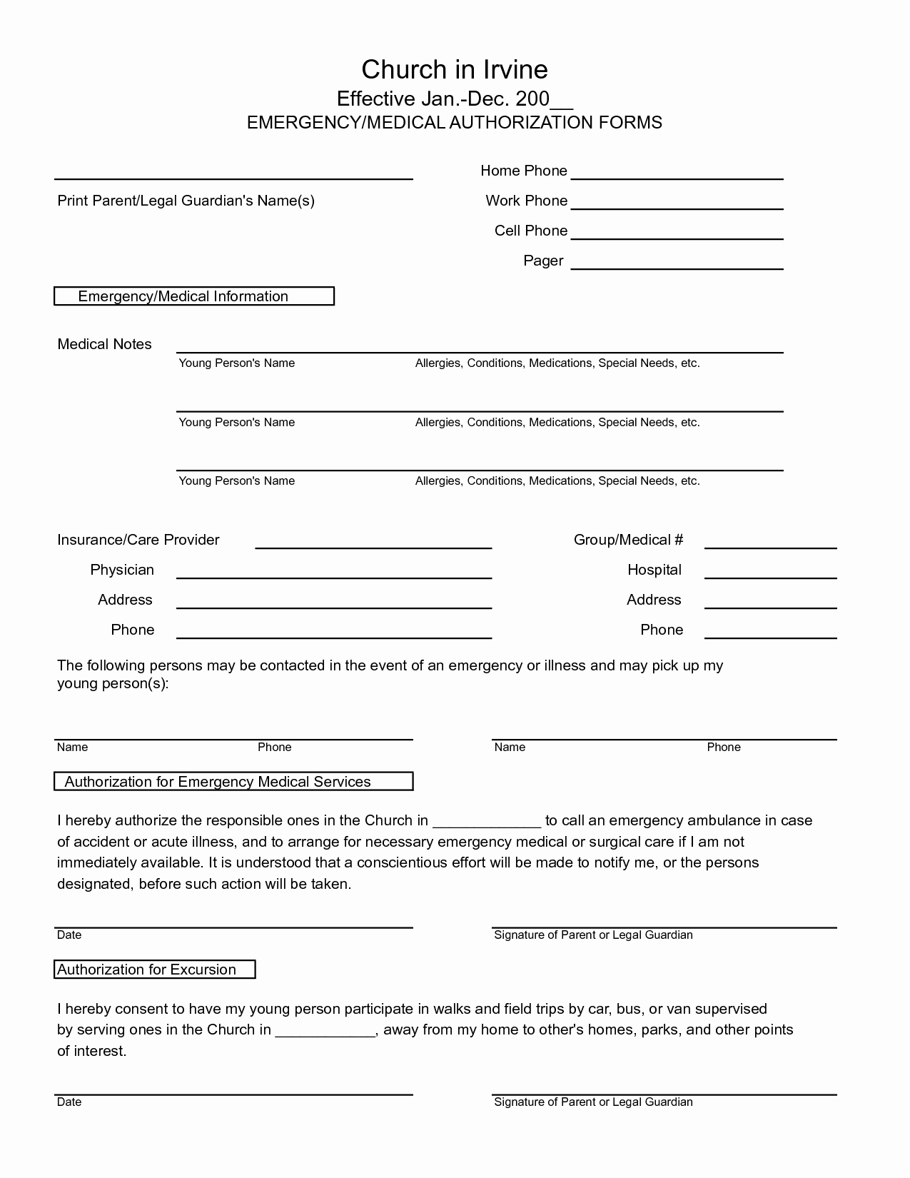 Medical Record form Template Best Of 7 Best Of Free Printable Medical Release form