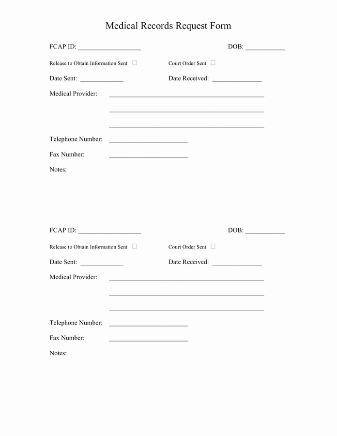 Medical Record form Template Elegant Medical Records Request Template to Pin On