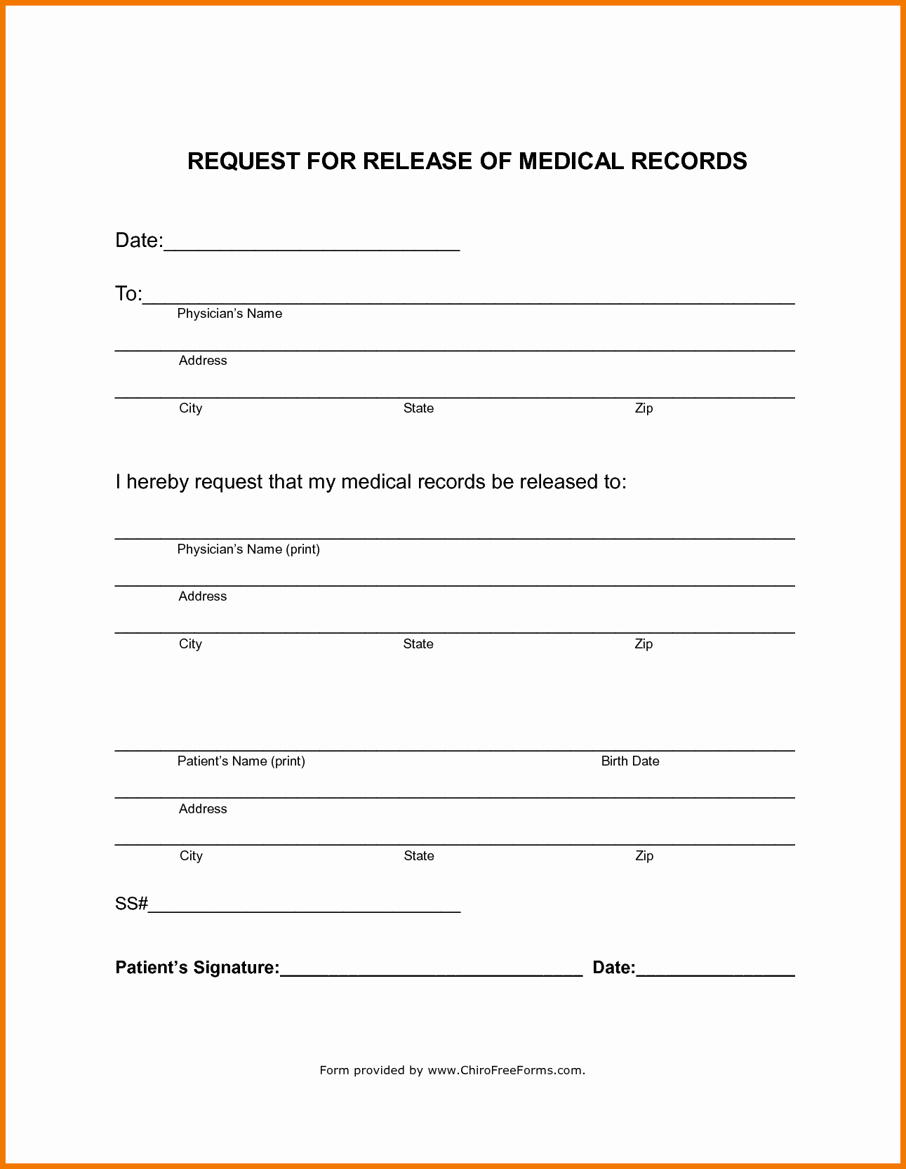Medical Record form Template Fresh Policy and forms Ideas Collection Medical Record Release
