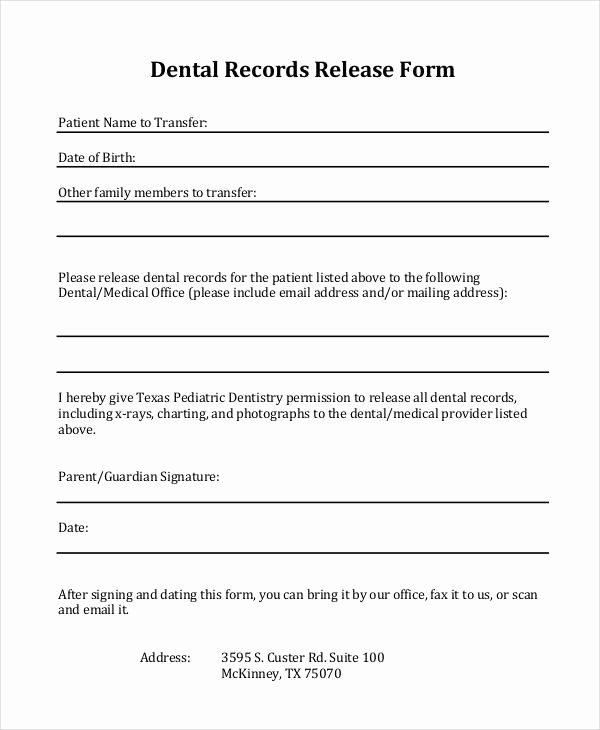 Medical Record forms Template Unique 33 Medical Release forms In Pdf