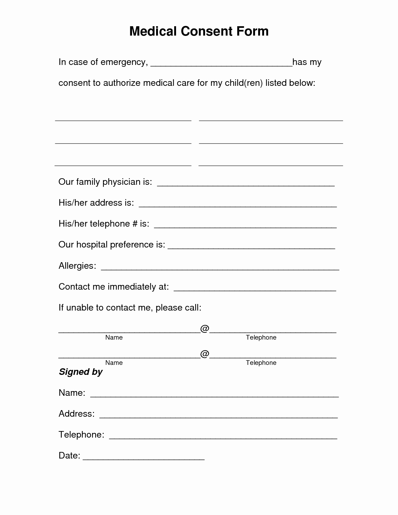 Medical Records form Template New Medical Record Release form Template