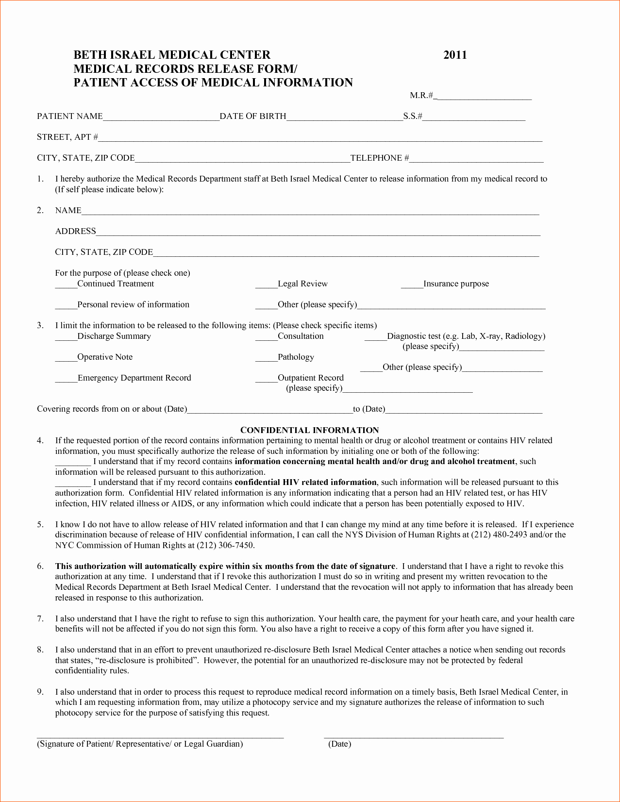 Medical Records form Template Unique 7 Medical form Templates