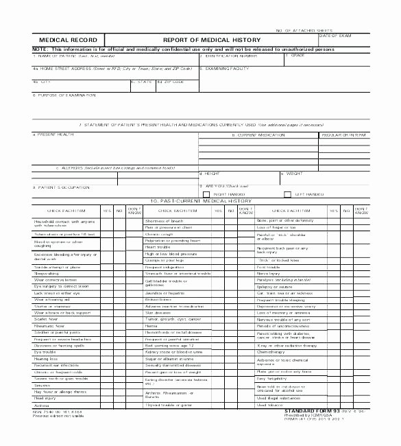 Medical Records forms Template Best Of Medical Records form Template Personal Record Free