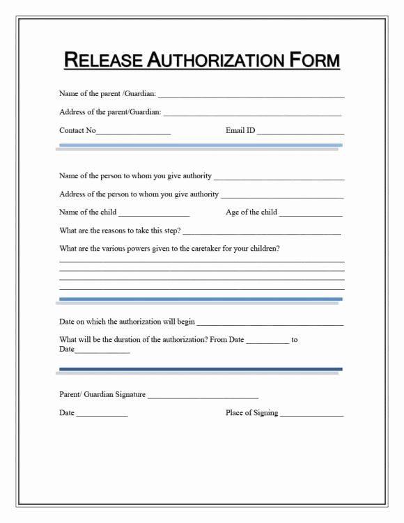 Medical Records forms Template New Medical Release form Template