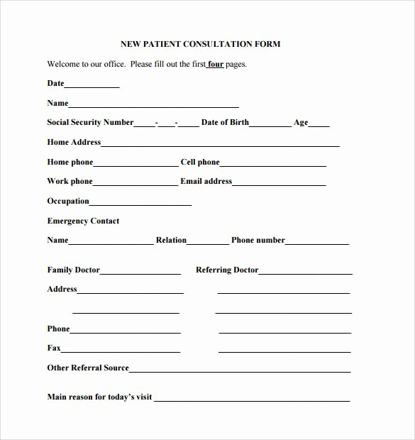 Medical Referral form Template Beautiful Medical Referral form Templates – Medical form Templates