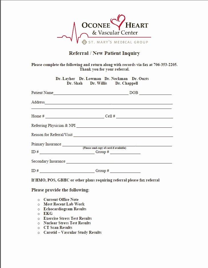 Medical Referral form Template Elegant Medical Referral form – Templates Free Printable