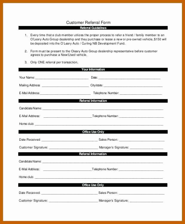 Medical Referral form Template New 5 6 Referral form Template