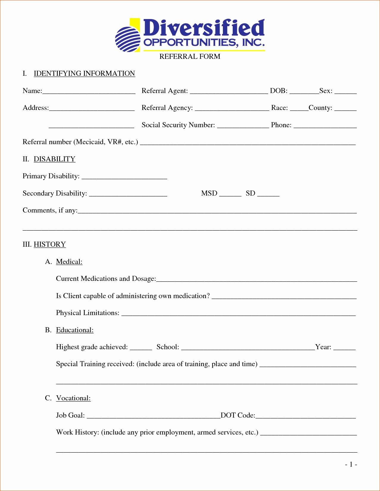 Medical Referral form Template New 7 Medical form Templates