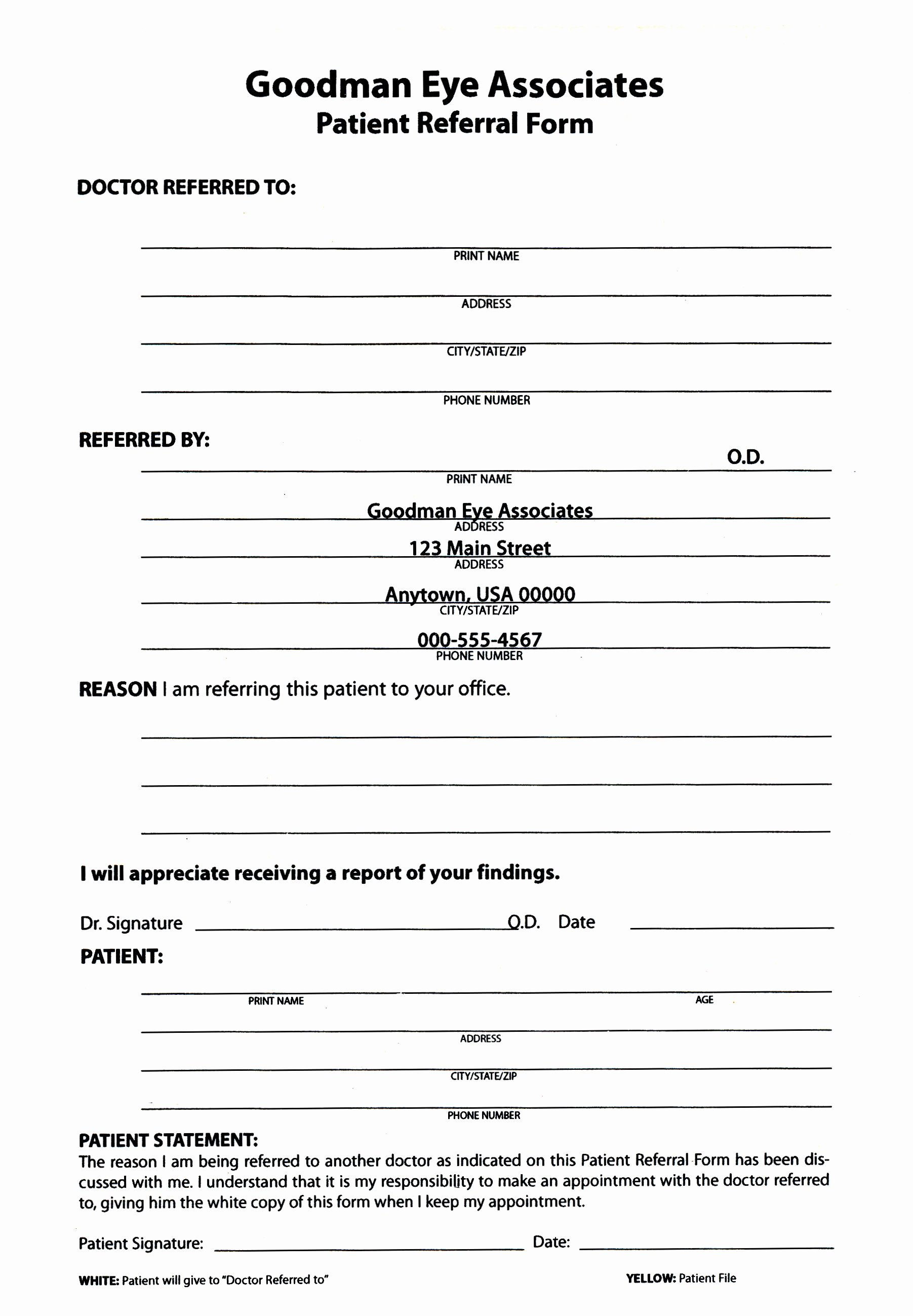 Medical Referral form Template New Medical Referral form – Templates Free Printable