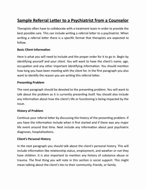 Medical Referral Letter Template Awesome Sample Doctor Referral Letter Template Download