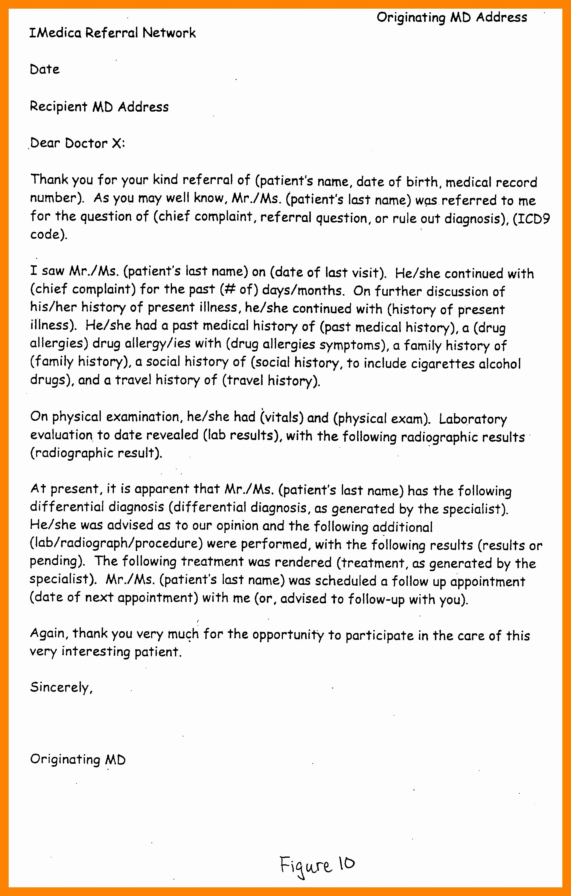 Medical Referral Letter Template Beautiful Sample Doctor Referral Letter Template Download