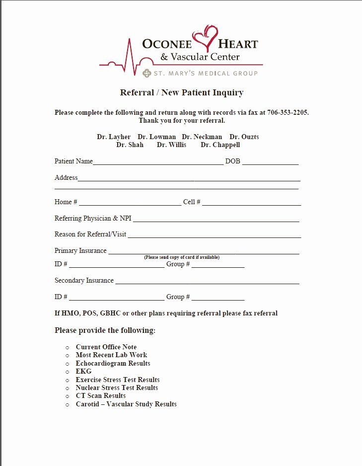Medical Referral Letter Template Luxury Medical Referral form – Templates Free Printable