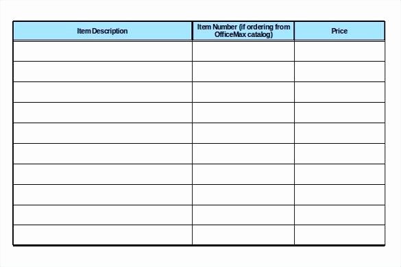 Medical Supply Inventory List Template Luxury Fice Supply List Template
