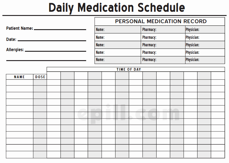 Medication Schedule Template Excel Beautiful 6 Medication Intake Schedule Templates – Word Templates