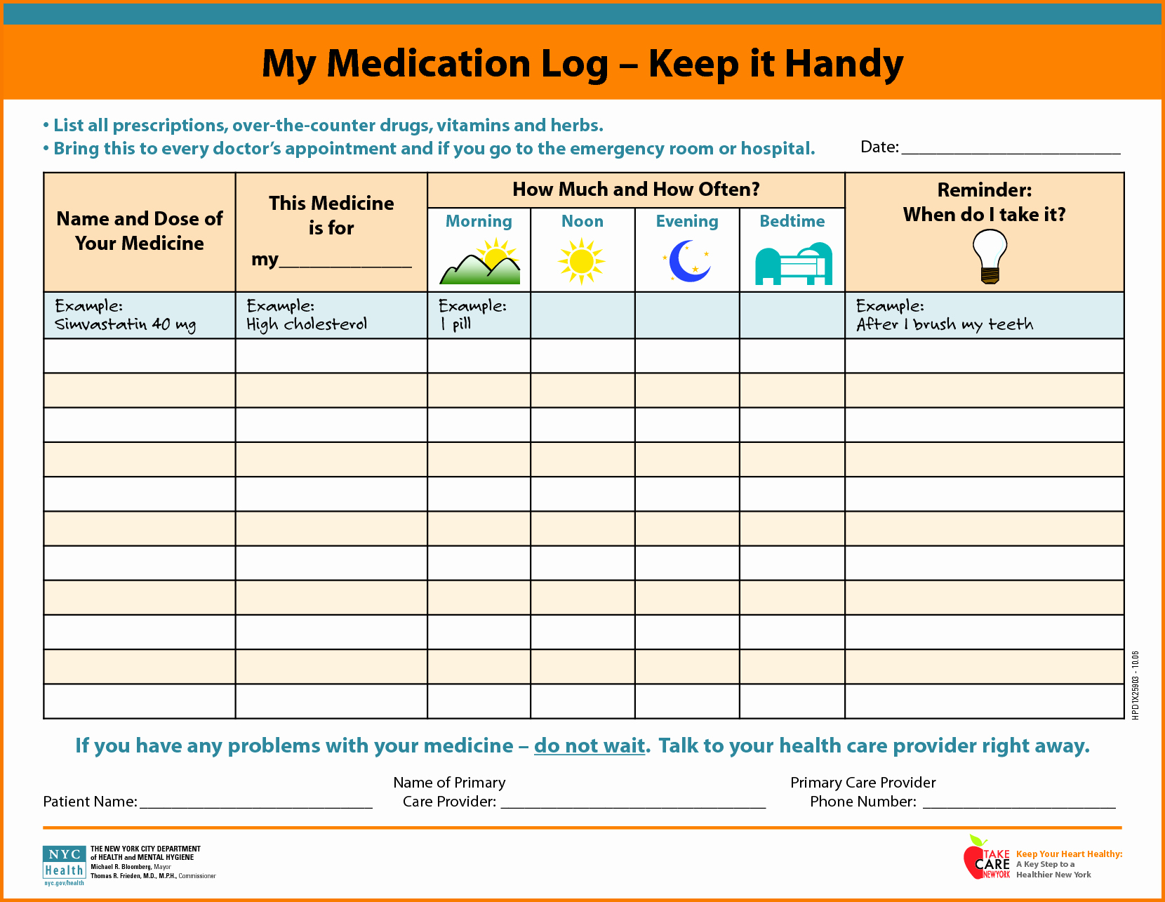 Medication Schedule Template Excel Best Of Medication Template