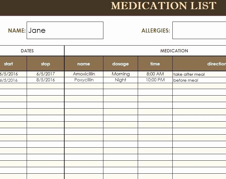 Medication Schedule Template Excel Luxury Pill Calendar Template Medication Schedule Create A Chart
