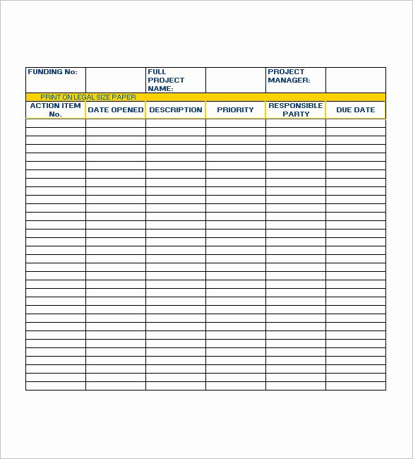 Meeting Action Items Template Awesome Action List Template – 10 Free Sample Example format