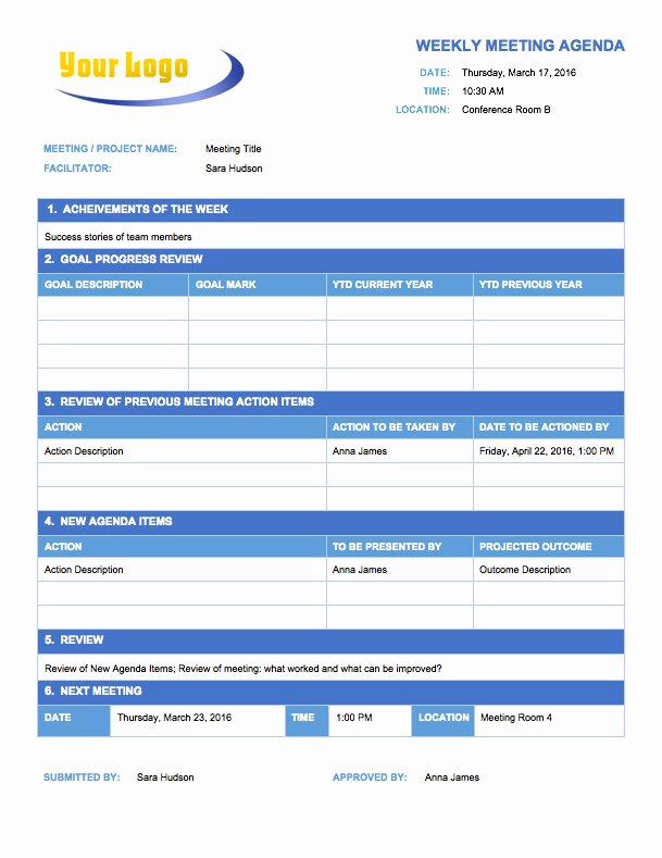 Meeting Action Items Template Awesome Free Meeting Agenda Templates Smartsheet