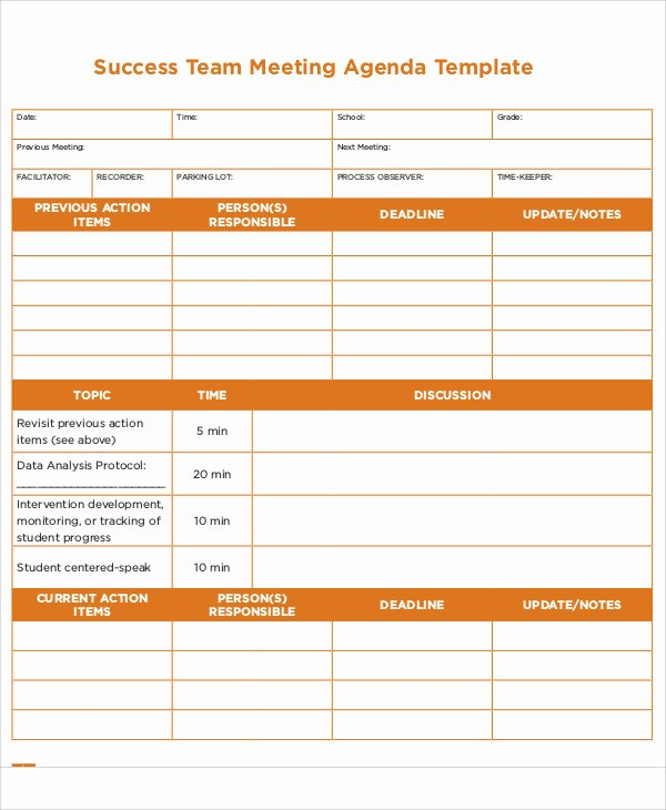 Meeting Action Items Template Beautiful Action Agenda Templates 7 Free Word Pdf format Download