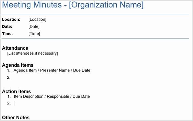 Meeting Action Items Template Best Of 12 Best Meeting Minutes Templates for Professionals