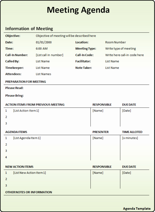 Meeting Action Items Template Best Of Interesting Meeting Agenda Template with Information and
