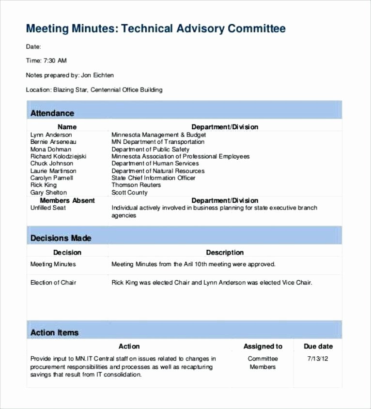 Meeting Action Items Template Inspirational Department Meeting Minutes Template – Lesion