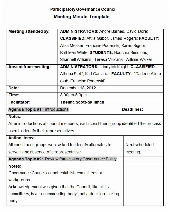 Meeting Action Items Template Inspirational Meeting Minutes Template 25 Free Samples Examples
