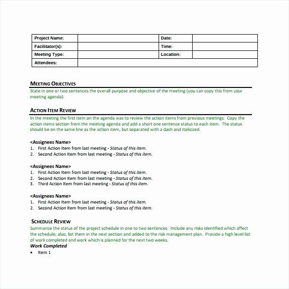 Meeting Action Items Template Lovely Meeting Minutes Template Free Minute Action Items Example
