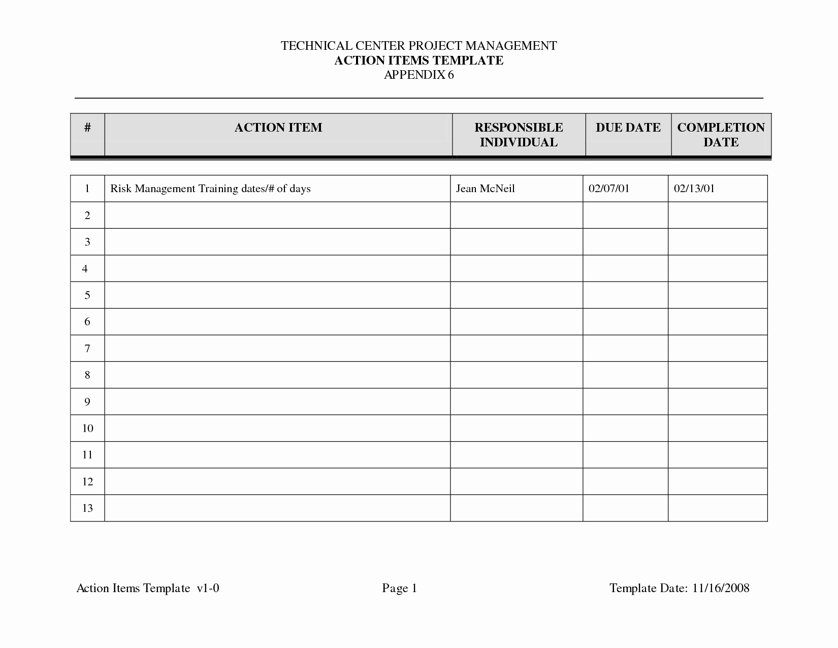 Meeting Action Items Template Luxury 29 Of Template Action Items