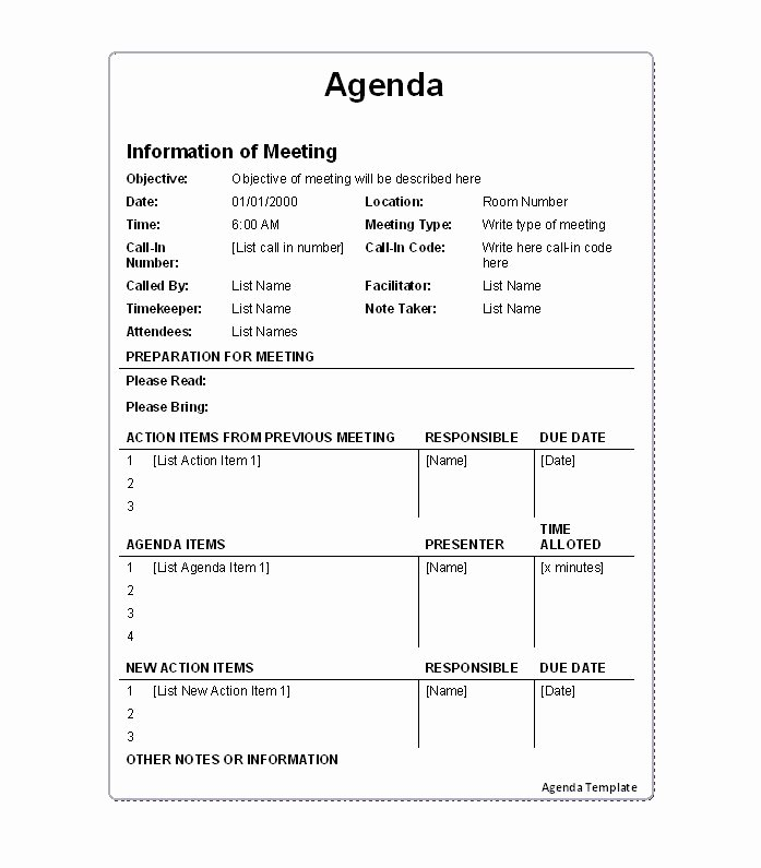 Meeting Action Items Template Luxury 46 Effective Meeting Agenda Templates Template Lab