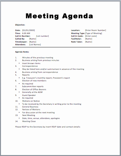 Meeting Agenda Template Word Free Awesome 20 Meeting Agenda Templates Word Excel Pdf formats