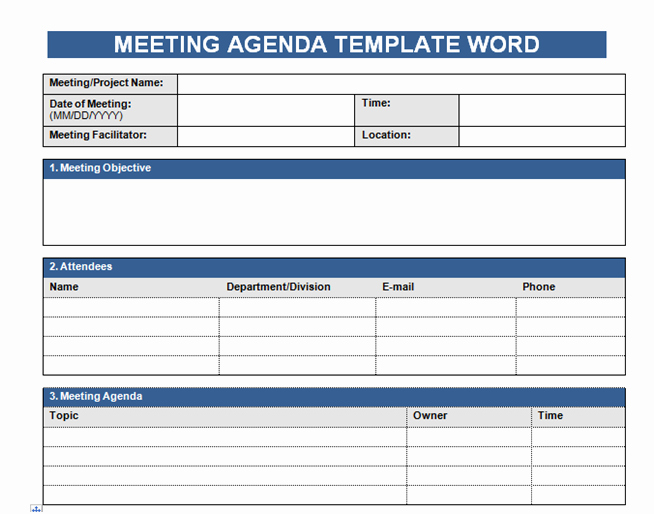Meeting Agenda Template Word Free Awesome Get Free Meeting Agenda Template In Word