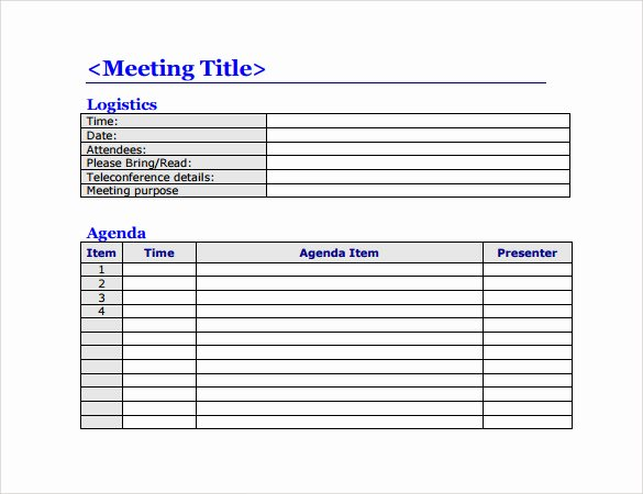 Meeting Agenda Template Word Free Elegant 50 Meeting Agenda Templates Pdf Doc