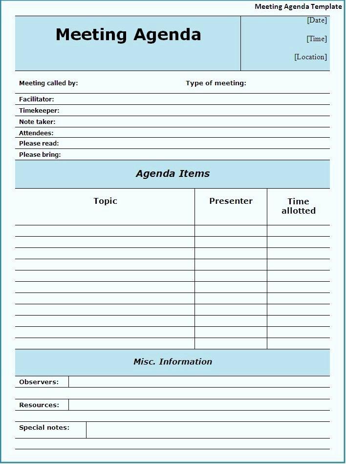 Meeting Agenda Template Word Free Fresh Meeting Agenda Template Best Word Templates