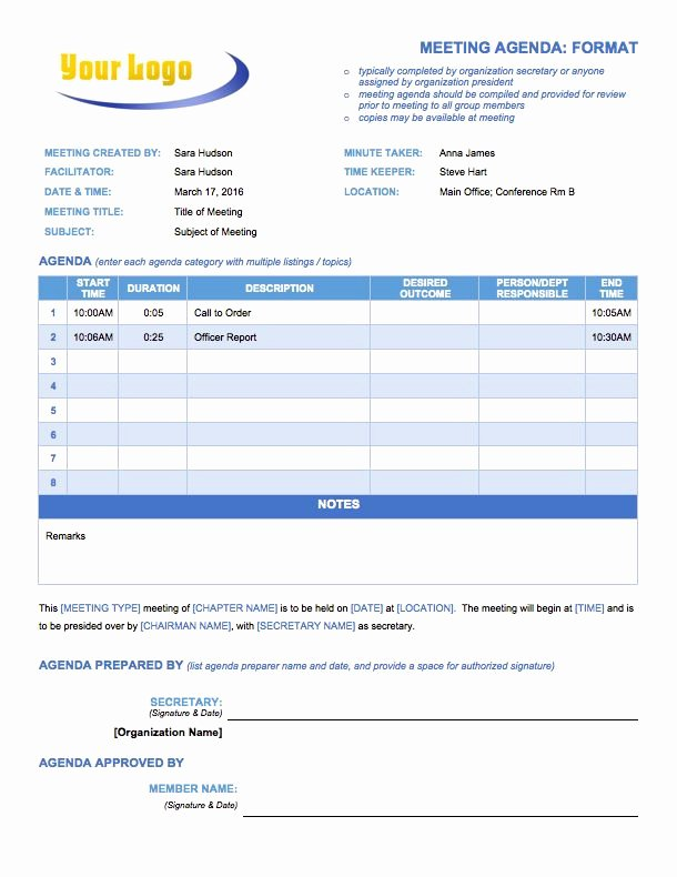 Meeting Agenda Template Word Free Lovely Free Meeting Agenda Templates Smartsheet