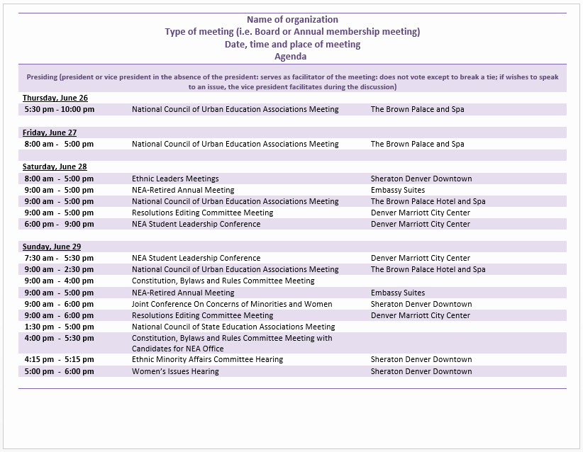 Meeting Agenda Template Word Free Lovely Meeting Word Templates – Microsoft Word Templates