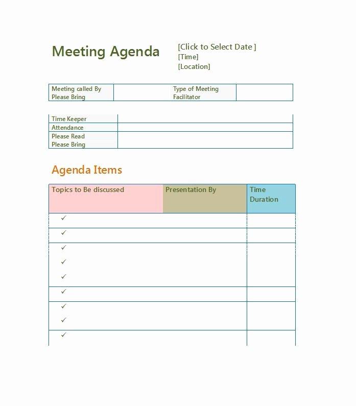 Meeting Agenda Template Word Free New 51 Effective Meeting Agenda Templates Free Template