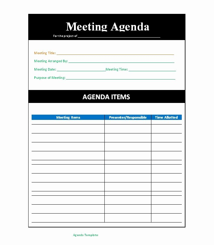 Meeting Agenda Template Word Free Unique 51 Effective Meeting Agenda Templates Free Template