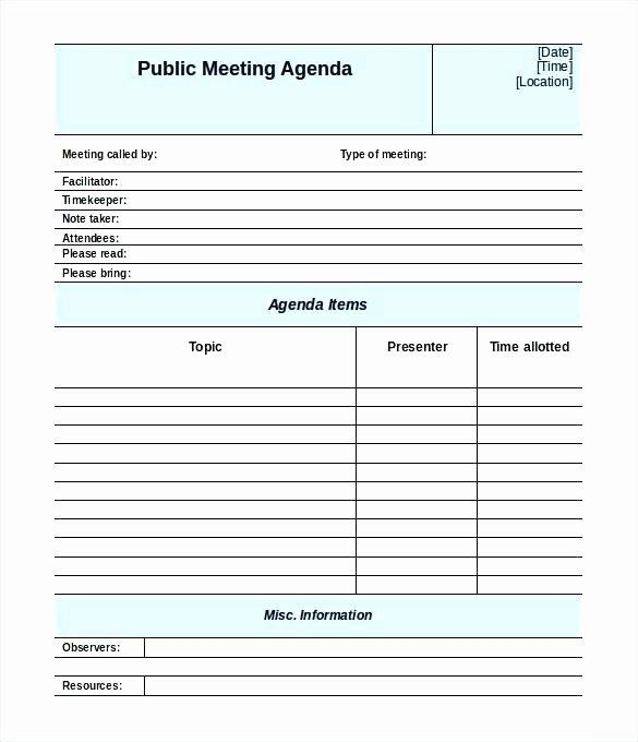Meeting Agenda Template Word Free Unique tool Box Safety Meeting form Agenda Template Free Word